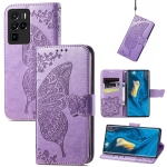 For ZTE Nubia Z30 Pro Butterfly Love Flower Embossed Horizontal Flip Leather Case with Holder & Card Slots & Wallet & Lanyard(Light Purple)