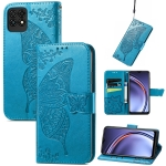 For Huawei Maimang 10 SE Butterfly Love Flower Embossed Horizontal Flip Leather Case with Holder & Card Slots & Wallet & Lanyard(Blue)