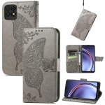 For Huawei Maimang 10 SE Butterfly Love Flower Embossed Horizontal Flip Leather Case with Holder & Card Slots & Wallet & Lanyard(Gray)
