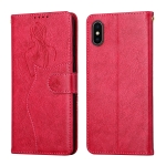Beauty Girl Embossing Pattern Horizontal Flip Leather Case with Holder & Card Slot & Wallet & Photo Frame For iPhone XS Max(Red)