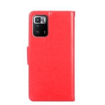 For Xiaomi Redmi Note 10 Pro (China) Crystal Texture Horizontal Flip Leather Case with Holder & Card Slots & Wallet(Red)