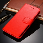 For Xiaomi Redmi Note 9S Crystal Texture Horizontal Flip Leather Case with Holder & Card Slots & Wallet(Red)