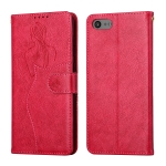 For Sony Xperia XZ4 Compact Beauty Girl Embossing Pattern Horizontal Flip Leather Case with Holder & Card Slot & Wallet & Photo Frame(Red)