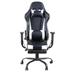[US Warehouse] High Back Racing Gaming Chairs with Footrest Tier, Size: 20.47×20.8 inch