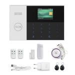 3G/GPRS + WiFi Intelligent Alarm System with Touch Keypad & LCD Screen & RFID function
