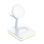 WX-991 Magnetic 4 in 1 Wireless Charger for iPhone 12 Series / iWatch / AirPods or other Smart Phones(White)