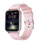Q26 1.7 inch Color Screen Smart Watch, IP68 Waterproof,Support Temperature Monitoring/Heart Rate Monitoring/Blood Pressure Monitoring/Blood Oxygen Monitoring/Sleep Monitoring(Pink)