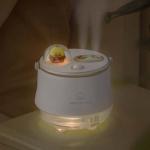 F08 Wireless Water Replenishing Double Spray Humidifier LED Night Light Humidifier(White)