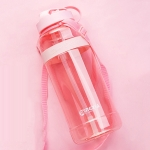 MINGXIA MXCP05 Large Capacity Plastic Water Cup With Straw Outdoor Portable Sports Kettle, Colour: Pink 1000ml