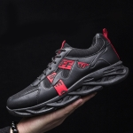 9028 Man Sports Shoes Fashion Casual Shoes Clunky Sneaker, Size: 43(Black Red)