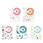 5 PCS 5 in 1 DIY Cute Cartoon  Camera Stickers Set for Fujifilm Instax mini 11(Space Animals Series )