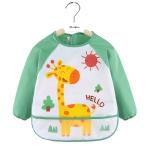 2 PCS Baby Eating Gown Children Waterproof Apron, Colour: Long-sleeved Deer(110cm)