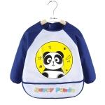2 PCS Baby Eating Gown Children Waterproof Apron, Colour: Long-sleeved Panda(90cm)