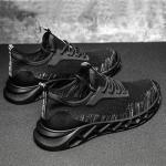 TD19 Mesh Men Running Shoes Men Casual Sports Shoes, Size: 39(Black Gray)
