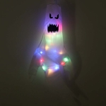 Halloween Decoration Props Ghost Printing LED Light String(White Glow)