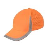Reflective Safety Baseball Cap Breathable Construction Site Outdoor Construction Mesh Cap, Colour: Fluorescent Orange