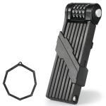 WEST BIKING Bicycle Folding Code Lock Riding Anti-Theft Chain Lock(Black)