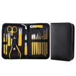 18 In 1 Yellow  Nail Clipper Set Manicure Set Stainless Steel Nail Clipper Manicure Tool