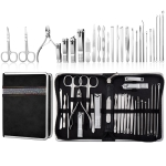 26 In 1 Black  Nail Clipper Set Manicure Set Stainless Steel Nail Clipper Manicure Tool