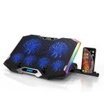 ICE COOREL K9 USB Power Supply Notebook Mute Radiator RGB Laptop Radiator Bracket(Ice Blue )