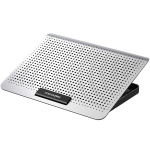 ICE COOREL Laptop Aluminum Alloy Radiator Fan Silent Notebook Cooling Bracket, Colour: Space Silver