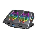 ICE COOREL USB Laptop Radiator Computer Mute Cooling Bracket, Colour: N9 Standard Version (Gray)