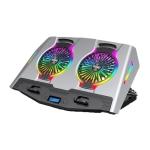 ICE COOREL USB Laptop Radiator Computer Mute Cooling Bracket, Colour: N9 Standard Version (Silver)
