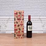 12 PCS Christmas Kraft Paper Gift Bag Wine Bottle Bag(Old Man With Hat )