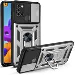 For Samsung Galaxy A21s Sliding Camera Cover Design TPU+PC Protective Case(Silver)