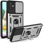 For Samsung Galaxy A71 Sliding Camera Cover Design TPU+PC Protective Case(Silver)
