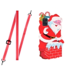 For Xiaomi Redmi Note 9 4G Christmas Series TPU Shockproof Case with Neck Lanyard(Santa Claus)