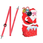For Xiaomi Redmi Note 9 5G Christmas Series TPU Shockproof Case with Neck Lanyard(Santa Claus)
