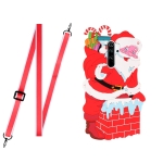 For Xiaomi Redmi Note 8 Pro Christmas Series TPU Shockproof Case with Neck Lanyard(Santa Claus)