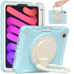 Shockproof TPU + PC Protective Case with 360 Degree Rotation Foldable Handle Grip Holder & Pen Slot For iPad mini 6(Ice Crystal Blue)