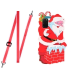 For Samsang Galaxy S20+ Christmas Series Silicone Shockproof Case with Neck Lanyard(Santa Claus)