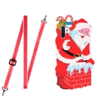 For Samsang Galaxy Note10+ Christmas Series Silicone Shockproof Case with Neck Lanyard(Santa Claus)