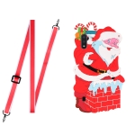 For Samsang Galaxy A01 Christmas Series Silicone Shockproof Case with Neck Lanyard(Santa Claus)