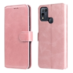 For Infinix Hot 10 Play Classic Calf Texture PU + TPU Horizontal Flip Leather Case with Holder & Card Slots & Wallet(Rose Gold)