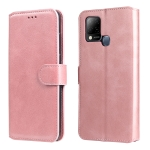 For Infinix Hot 10s Classic Calf Texture PU + TPU Horizontal Flip Leather Case with Holder & Card Slots & Wallet(Rose Gold)