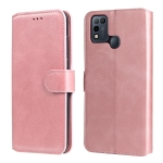 For Infinix Smart 5 Classic Calf Texture PU + TPU Horizontal Flip Leather Case with Holder & Card Slots & Wallet(Rose Gold)