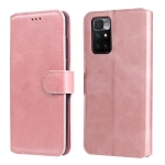 For Xiaomi Redmi 10 Classic Calf Texture PU + TPU Horizontal Flip Leather Case with Holder & Card Slots & Wallet(Rose Gold)