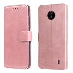 For Nokia C10 / C20 Classic Calf Texture PU + TPU Horizontal Flip Leather Case with Holder & Card Slots & Wallet(Rose Gold)