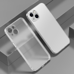 Electroplated Edge Frosted TPU Shockproof Case For iPhone 13(Translucent Frosted)