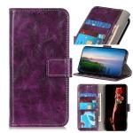 For Motorola Moto G50 5G Retro Crazy Horse Texture Horizontal Flip Leather Case with Holder & Card Slots & Photo Frame & Wallet(Purple)