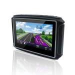 4.3 inch Waterproof Multi-function Portable Motorcycle GPS Voice Navigator Support TF Card, North America Map