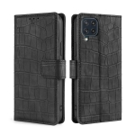 For Samsung Galaxy M32 Skin Feel Crocodile Texture Magnetic Clasp Horizontal Flip PU Leather Case with Holder & Card Slots & Wallet(Black)