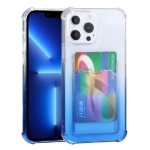 Gradient Anti-fall Mobile Phone Protective Case with Card Holder For iPhone 13 Pro(Blue)