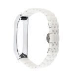 For Xiaomi Mi Band 4 / 3 Ceramics Replacement Strap Watchband(Five Beads White)