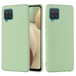 For Samsung Galaxy M32 4G International Version Solid Color Liquid Silicone Dropproof Full Coverage Protective Case(Green)