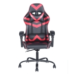 [US Warehouse] Ergonomic 180 Degrees Adjustable Swivel Task Chairs with Headrest & Lumbar Support(Red)